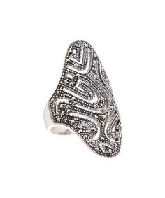 Love this Marcasite & Sterling Silver Curvy-Line Ring on #zulily! #zulilyfinds