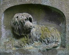 For Art and Dog lovers, he is something for you. This is the dog of the Scottish painter Horatio McCullock, b. 1805 - d. 1867. This image of his pup is carved at the base of his celtic cross in Warriston Cemetery