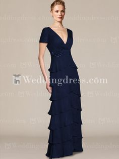 mother of the bride dresses_Navy