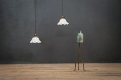 Vintage Clamshell Hanging Counter Pendants : Factory 20