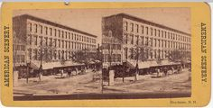 Manchester NH Stereoview Merchant Exchange Building | eBay