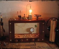 The Steam Radio:  Oh what was old is old again.  :)  I have a working vintage tube radio in my garage ready to be reborn.  Fortunately I also have the skills to make it happen since I am an amateur radio operator and a vintage DiY geek.