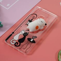 Coque Huawei P9 Lite Squishy 3D - Chat