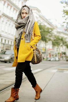 hijab styles for fall - Google Search