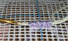 Locker Hooking - Rug Hooking Demonstration