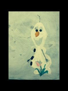 Olaf in the process......