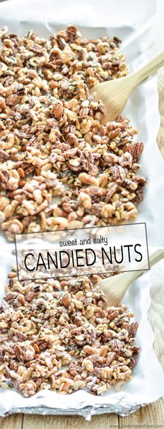 Sweet and Salty Candied Nuts are the perfect topping for ice cream! | www.cookingandbeer.com