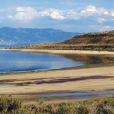This is Utah's Great Salt Lake, the 5th-saltiest lake on Earth. To see which ones are even saltier, see: http://www.infobarrel.com/The_Five_Saltiest_Lakes_on_Earth_