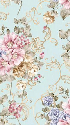 Vintage Flowers Wallpaper, Flowery Wallpaper, Pattern Wallpaper, Flower Backgrounds, Wallpaper Backgrounds, Cellphone Wallpaper, Iphone Wallpaper, Decoupage Paper, Pretty Wallpapers