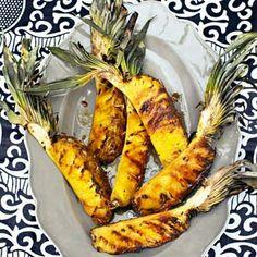 24 december - ananas in de bonus - Recept - Gegrilde ananas - Allerhande