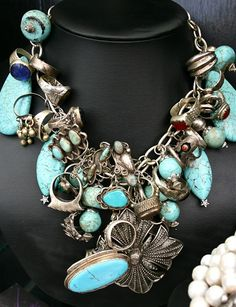 Deborah Vaughn jewelry ~~ One way to wear all your stuff at one time. :D