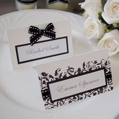 Modern Wedding Name Card / Place card / Escort card (Qty 100) - custom made