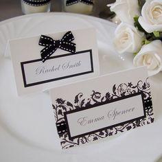 Modern Wedding Name Card / Place card / Escort card (Qty 100) - custom made
