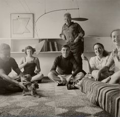 Calder at Marcel Breuer's house