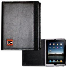 """Checkout our #LicensedGear products FREE SHIPPING + 10% OFF Coupon Code """"Official"""" Philadelphia Flyers iPad 2 Folio Case - Officially licensed NHL product Fits the iPad 2 or 3 tablet Complete access to the tablet while in the case  Stretch strap secures the case while closed Metal Philadelphia Flyers emblem with enameled team colors - Price: $22.00. Buy now at https://officiallylicensedgear.com/philadelphia-flyers-ipad-2-folio-case-hipc65b"""