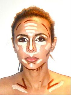 places to highlight and low light for makeup-- kind of weird, but probably could be useful one day.