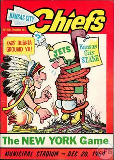 New York Jets at Kansas City Chiefs — December 20, 1964 | Game Programs of the American Football League (AFL) Visit us on Facebook at:  https://www.facebook.com/KansasCityMissouriLife/