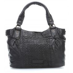 Woven Sheep Bags Dominique Handbag softly grained sheepskin black by Liebeskind