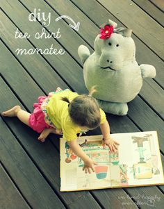 We Lived Happily Ever After: Up-cycle a Tee Shirt into a Manatee Pillow Pet (Tutorial & Pattern)