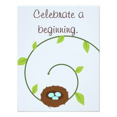 New Beginnings Baby Shower Invitation