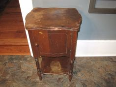 1940s -50s Copper Lined Humidor table with a Magazine stand ...