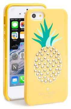 kate+spade+new+york+'pineapple'+iPhone+5+&+5s+case+available+at+#Nordstrom
