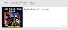 """GOOGLE PLAY $$ FREE """"Red Red Wine"""" MP3 Download by Labour of Love (Reg. $1.29)!"""