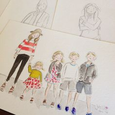 Custom watercolour portraits from Sophie & Lili - ADorable but pricey!