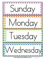 learning days of the week free printable - learning days of the week ; learning days of the week preschool ; learning days of the week free printable ; learning days of the week activities Preschool Word Walls, Free Preschool, Preschool Printables, Preschool Classroom, Preschool Worksheets, Preschool Activities, Free Printables, Preschool Learning, Preschool Calendar