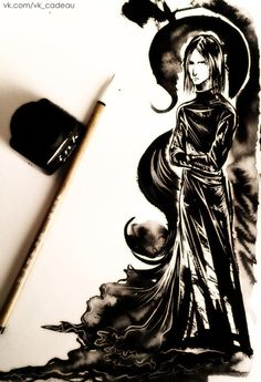 Ink HP sketch by lispoart