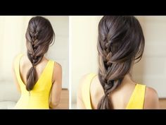 Relaxed French Braid - YouTube