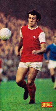 Ray Kennedy of Arsenal in 1972.