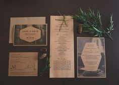 Beautiful, elegant nature-themed Save the Date, Wedding Invitations, RSVP Card, Guest Information Card and Ceremony Programs.  NOTE THAT THE