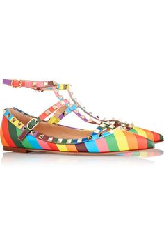 Slight heel Multicolored leather Buckle-fastening ankle straps