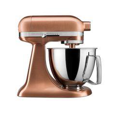 KitchenAid® Artisan Mini Stand Mixer with Flex Edge Beater, Copper #williamssonoma