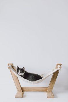 Cat hammock Ergonomic cat bed Cat furniture Cat macrame   Etsy Dog Hammock, Eco Furniture, Plywood Furniture, Oak Beds, Cat Room, Small Dog Breeds, Small Breed, Cat Gifts, Dog Cat