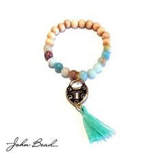 Semi Precious Beads, Wood Beads, Tassels and Charms – A Step by Step for Five Meaningful Bracelets | Welcome to the Blog for John Bead Corporation Beads, Crystals, Components and Carnival