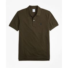 Brooks Brothers Slim Fit Supima® Cotton Performance Polo Shirt (€57) ❤ liked on Polyvore featuring men's fashion, men's clothing, men's shirts, men's polos, forest green, american eagle mens shirts, brooks brothers mens shirts, mens polo shirts, men's cotton polo shirts and faded glory men's polo shirts