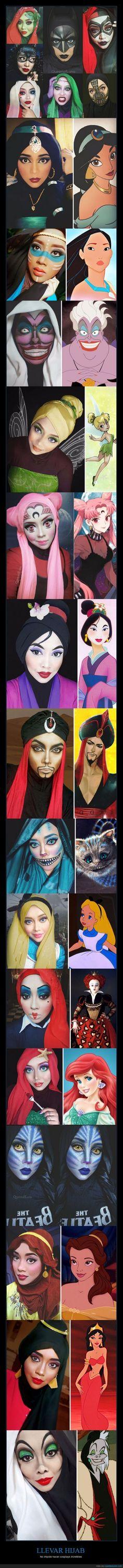 Galería: Incluso con un hijab se monta unos cosplays que te quedas alucinando - No impide hacer cosplays increíbles
