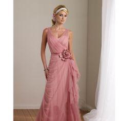 Custom Pink Chiffon Simple Wedding Mother of the Bride Evening Dresses SKU-1040131