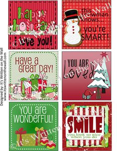 Lunchbox notes for Christmas!