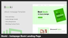 Booki - Instapage Book Landing Page by bestpixels | ThemeForest