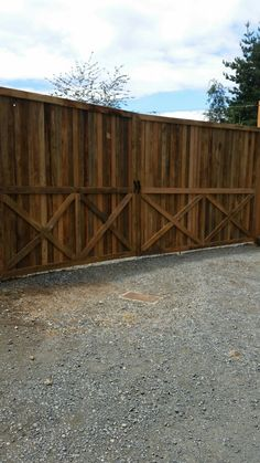 2 sided country fence