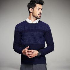 Casual Slim Fit Knitwear For Men. Shop Now