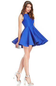 Keepsake All Through The Night Dress in Royal blue XS - L | DAILYLOOK