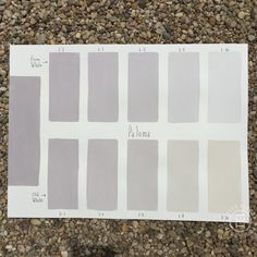Chalk Paint® Paloma Custom Color Chart using Pure White and Old White. Read more on our blog at Suitepieces.com | Suite Pieces