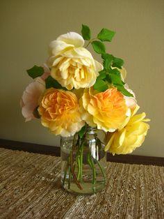 A Shower Fresh Garden: English Rose Bouquet