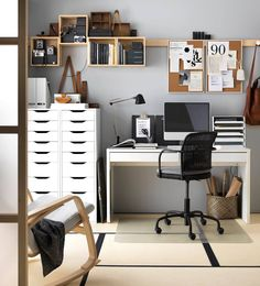 40 Most Stylish Home Office Space and Design Ideas Will Inspire You Home Office Idea Style And Inspiration. You won't mind getting work done with a home office like one of these. See these inspiring photos for the best decorating and design ideas. Home Design Decor, Home Office Design, Home Office Decor, Diy Home Decor, Interior Design, Design Ideas, Office Ideas, Office Decorations, Interior Ideas