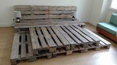 Whole Pallet Platform Bed - 150 Wonderful Pallet Furniture Ideas | 101 Pallet Ideas - Part 9