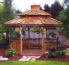 Image detail for -gazebo as part of a water garden. The decking is an octagonal shape ...